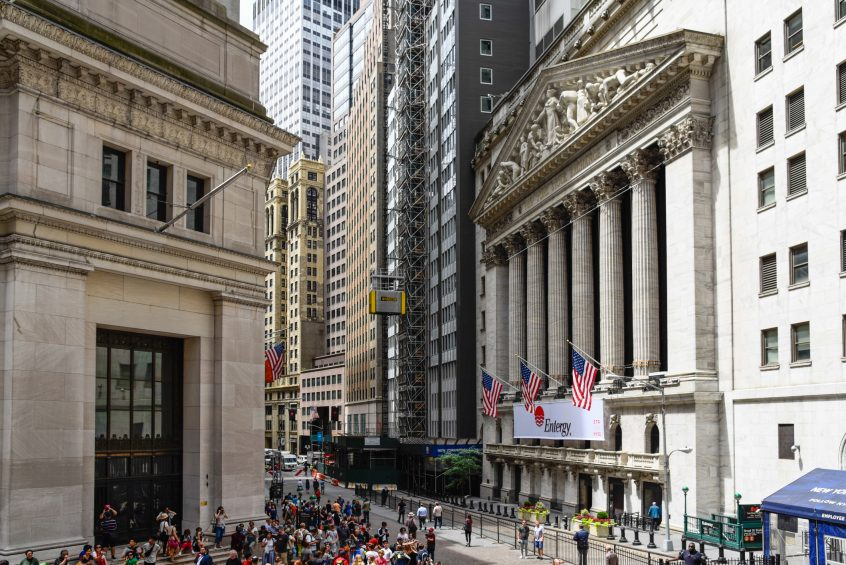New York Stock Exchange building in Wall Street
